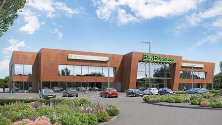 A computer-generated image of the proposed Ben Burgess building. Picture: Ben Burgess