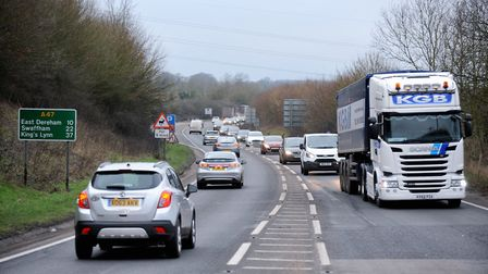 The A47 between North Tuddenham and Easton . Pic: Highways England.