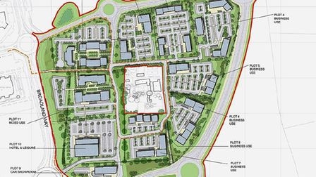 Artists' impressions of the Broadland Gate plan at Postwick.For: Shaun Lowthorpe