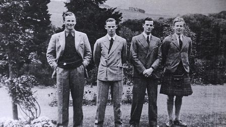 Logie Bruce-Lockhart, right, pictured with his brothers, left to right, John, Rab and Paddy, in 1939