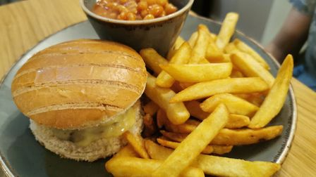 The Fox at Lyng. Pictured is the burger off the children's menu. Picture: DONNA-LOUISE BISHOP