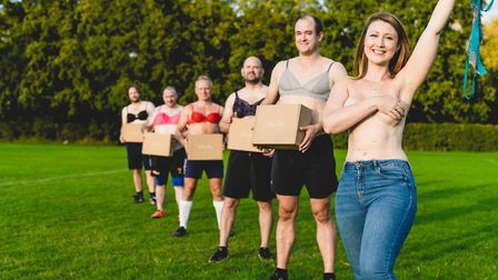 The launch of littlelifts' bra campaign, which is encouraging men to wear a bra for a day in support