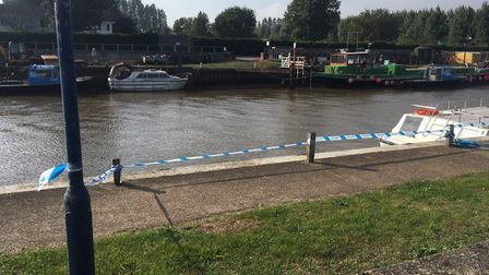 Police have cordoned off a stretch of quay along the River Bure in Great Yarmouth following an incid