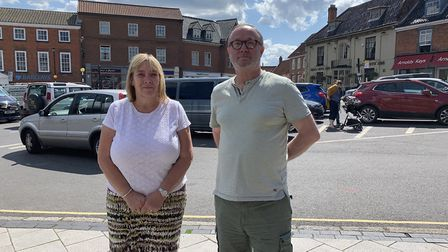 Sue Lake, Aylsham's town clerk, and Lloyd Mills, the town council chairman. Picture: Stuart Anderson