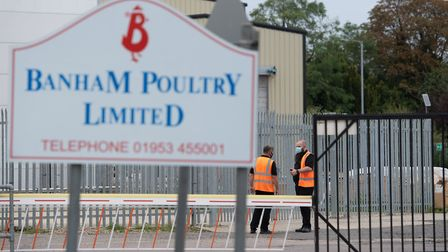 The Banham Poultry factory in Attleborough has reopened following a coronavirus outbreak. Picture: J
