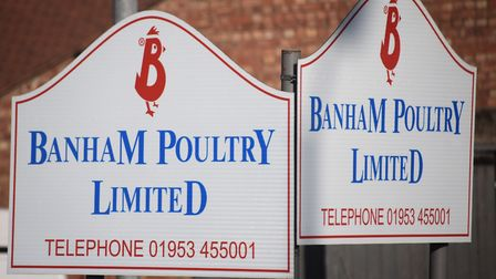 The Banham Poultry factory in Attleborough has reopened following a coronavirus outbreak. Picture: D