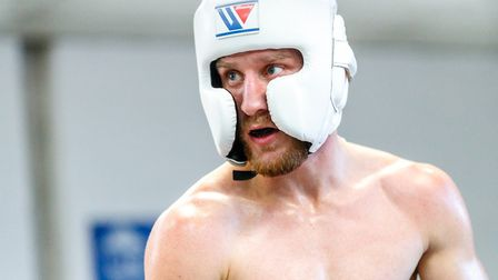 Ryan Walsh during sparring Picture: Mark Hewlett