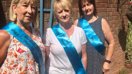 Norfolk Broads PAIN group leaders, pictured from left, Lynn Nicholls, Annette James, and Lorraine Wh