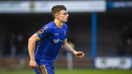 Simon Power is back in training and could feature for King's Lynn Town against Kettering Picture: Ia