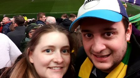 Norwich City season ticket holder and fiancée Louise are among the lucky 1,000 to have landed ticket