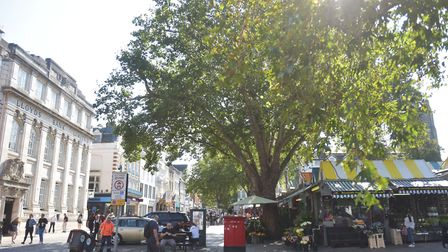 Norwich city centre in the September heat. Pictures: BRITTANY WOODMAN