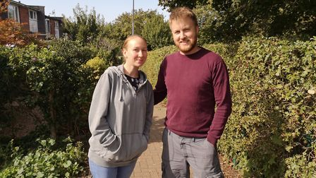 Marcel and Leanne Atkinson, both 31, live opposite Bowers Avenue park in Mile Cross. Picture: Ruth L