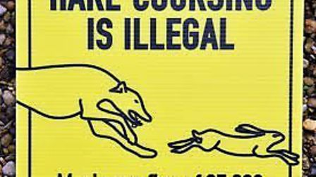 A sign warning against hare coursing. Picture: Courtesy Norfolk Police