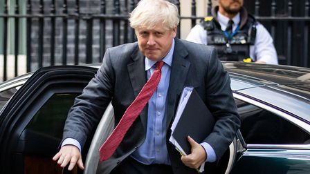 Prime minister Boris Johnson arrives back at 10 Downing Street, Westminster, London after appearing