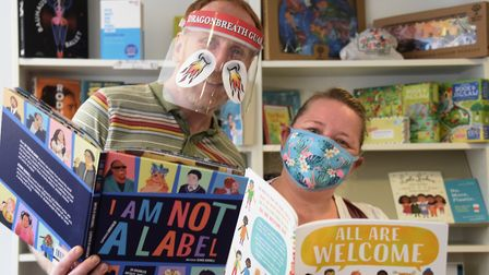 Owners of Bookbugs and Dragon Tales bookshop in Timberhill, Dan and Leanne Fridd. Picture: DENISE BR
