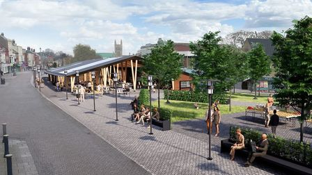 The design for Great Yarmouth's new covered market is being described as 'architecturally strikiing'