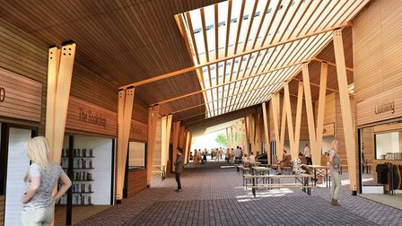An image showing the inside of the new Market Place which is much more spacious allowing for stall-h