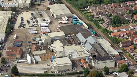 Aerial view of Banham Poultry. Picture: Mike Page