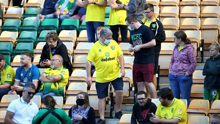 Norwich City fans have returned to Carrow Road for the Championship clash with Preston North End. PH
