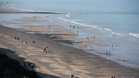 People flocked to Cromer to enjoy the sunshine Picture: SARAH LUCY BROWN