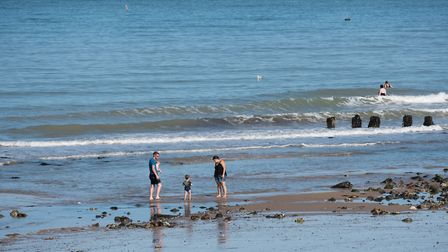 Visitors took a dip in the sea Picture: SARAH LUCY BROWN