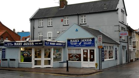 Mary Jane's Fish and Chip Shop, Garden Street, CromerSelection of pictures of the fish and chip shop