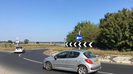 The A140 roundabout on Holt Road. Pic: Dan Grimmer