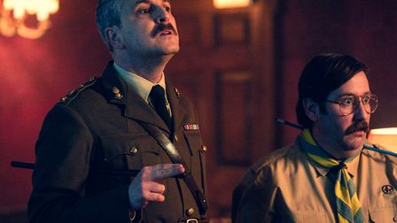 Ben Willbond as The Captain and Jim Howick as Pat. Picture: BBC/Monumental Television/Steven Peskett
