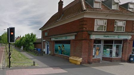 The Lloyds Pharmacy on Colman Road in Norwich, which is due to close in December. Picture: Google