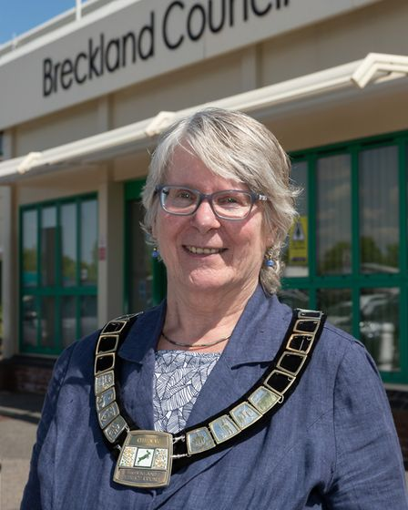 Cllr Lynda Turner, Breckland Council's chairman 2019/20. Picture: KEITH MINDHAM