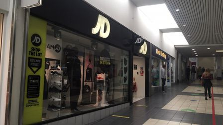 JD Sports in Great Yarmouth was closed for a deep clean after 'a small number' of staff tested posit