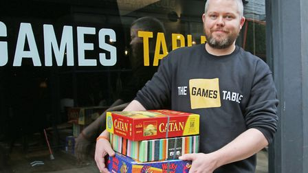 Kieran Meenaghan, owner of The Games Table, at the new premises based on Lower Goat Lane in Norwich.