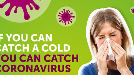 Part of the campaign posters for the Norfolk coronavirus campaign. Picture: Norfolk County Council