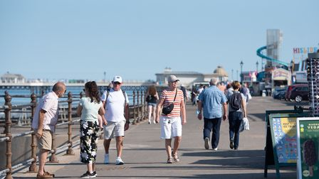 Visitors to Cromer in September. North Norfolk had an influx of tourists after the lockdown restrict