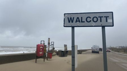 People in Walcott and Bacton woke up on Saturday morning to piles of sand covering their whole villa