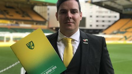 Ben Dack, Norwich City's former Chief Financial Officer and Company Secretary joins Dereham Town Foo