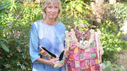 Jude Gudgin has created a dress completely out from teabags as part of her art course called The Eve