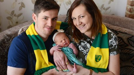 Alex and Lauren Jarvis with their baby Elsie. Picture: Ian Burt