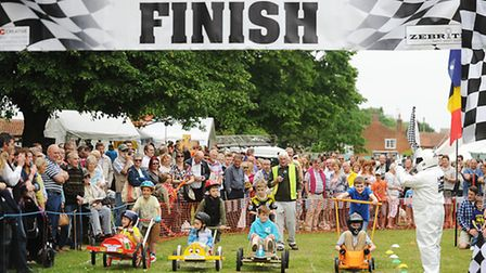 The Soap Box Derby at Gressenhall Fete. Picture: Ian Burt