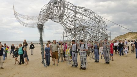 The mechanical elephant which will be at Welborne Arts Festival. Picture: PAUL DAMEN