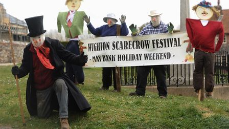The Wighton Scarecrow Festival is this weekend. Pictured are (from left) Graham Polson with George a