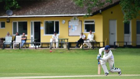 Sam Groves batting for Great Witchingham on Saturday. Picture: ANTONY KELLY