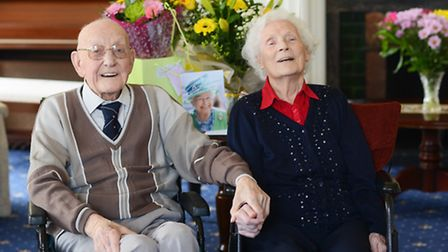 Barry and Vera Hawes are celebrating 75 years of marriage. Picture: Ian Burt