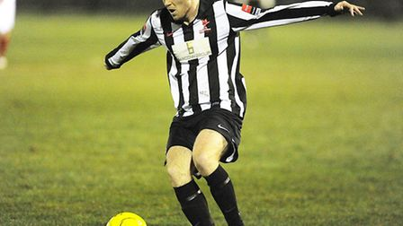 Luke Tuttle has committed his immediate future to Dereham Town. Picture: IAN BURT