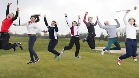 An illustration from the Girls Golf Rocks poster. Picture: LEADERBOARD PHOTOGRAPHY