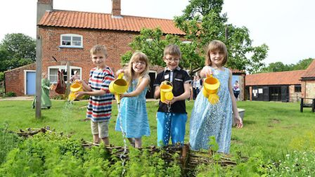 Children enjoying themselves at Gressenhall Farm and Workhouse.