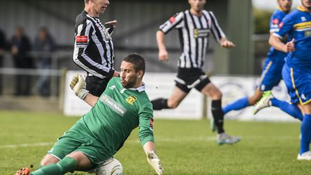 There was plenty of late frustration for those in the black and white shirts of Dereham Town this we