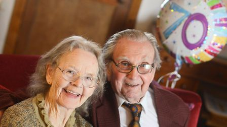 Thomas and Florence Sampson are celebrating their 70th wedding anniversary. Picture: Ian Burt