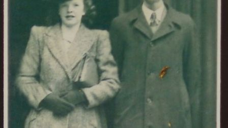 Thomas and Florence Sampson are celebrating their 70th wedding anniversary. This picture was taken c