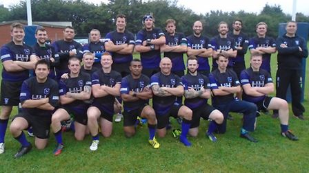 Dereham after their first win of the season on Saturday. Picture: TIM EVANS